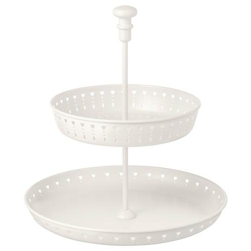 GARNERA حامل تقديم وجبات، صفّان أبيض 33 سم 29 سم