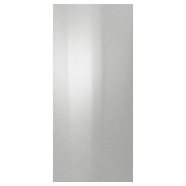 GREVSTA لوح غطاء ستينلس ستيل 39.0 سم 80.0 سم 1.3 سم