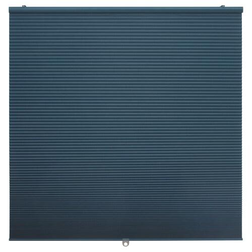 HOPPVALS ستارة خفيفة عاتمة للغرفة أزرق 155 سم 100 سم 1.55 م²