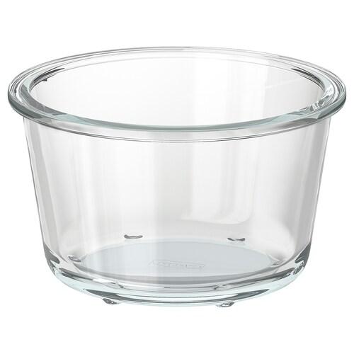 IKEA 365+ حافظة طعام دائري/زجاج 8 سم 14 سم 600 مل