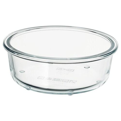 IKEA 365+ حافظة طعام دائري/زجاج 5 سم 14 سم 400 مل