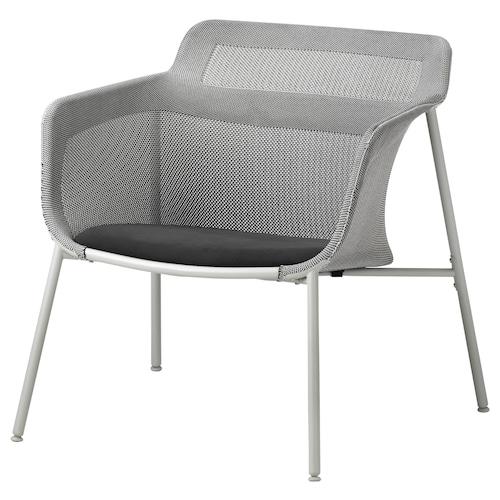 IKEA PS 2017 كرسي بذراعين رمادي 72 سم 75 سم 71 سم 49 سم 50 سم 40 سم 120 كلغ
