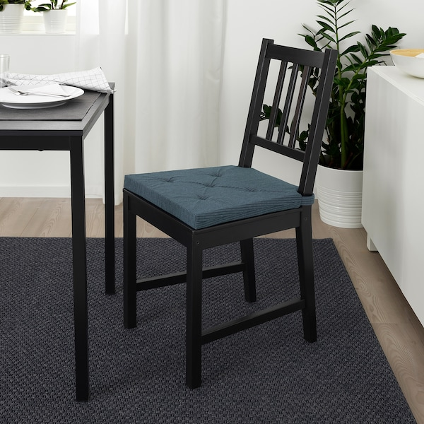 JUSTINA لبادة كرسي أزرق غامق/مخطط 35 سم 42 سم 40 سم 4.0 سم
