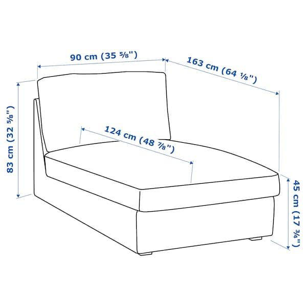 KIVIK أريكة طويلة Orrsta رمادي فاتح 90 سم 163 سم 83 سم 124 سم 45 سم