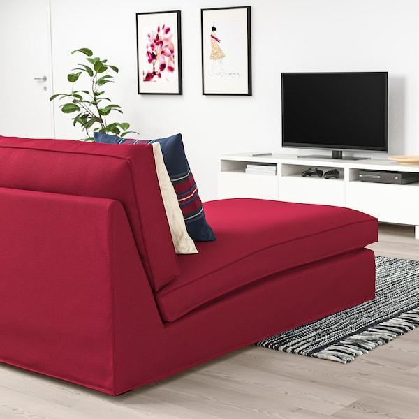 KIVIK أريكة طويلة Orrsta أحمر 90 سم 163 سم 83 سم 124 سم 45 سم