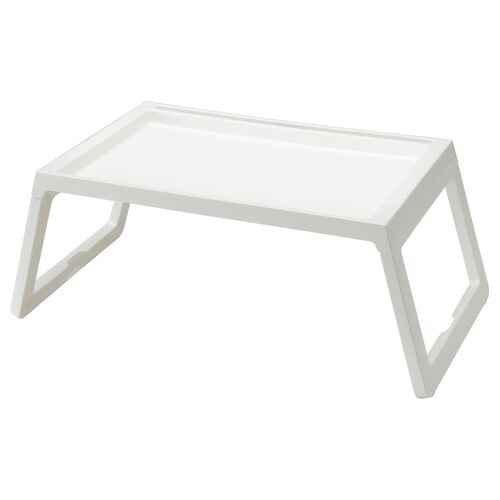 KLIPSK صينية سرير أبيض 56 سم 36 سم 26 سم