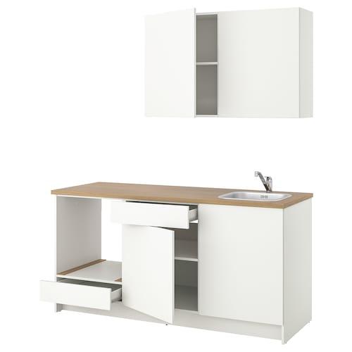 KNOXHULT مطبخ أبيض 180.0 سم 61.0 سم 220.0 سم