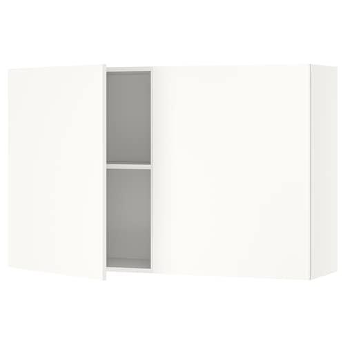 KNOXHULT خزانة حائط مع أبواب أبيض 120.0 سم 31.0 سم 75.0 سم