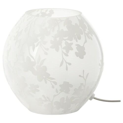 KNUBBIG مصباح طاولة أزهار الكرز. أبيض 40 واط 18 سم 18 سم 2.0 م