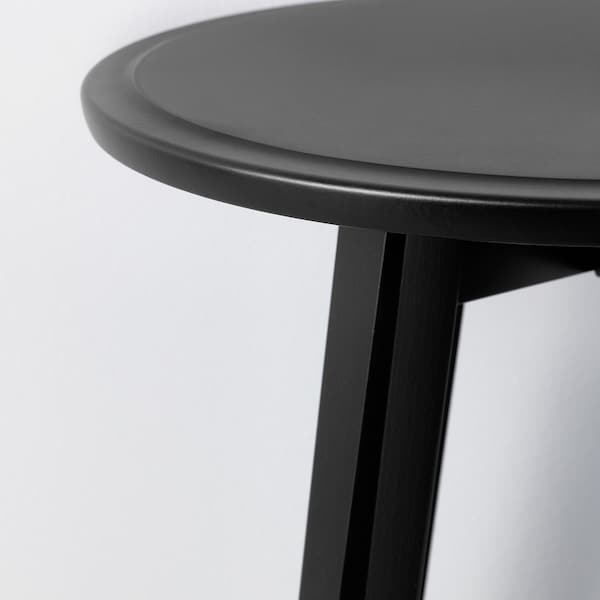 KRAGSTA طاولات متداخلة، طقم من 2. أسود