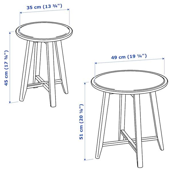 KRAGSTA طاولات متداخلة، طقم من 2. بيج فاتح