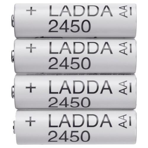 LADDA بطّارية قابلة للشحن 31 غم 4 قطعة