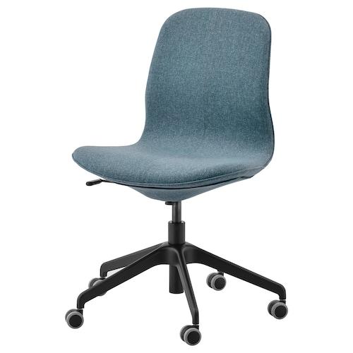 LÅNGFJÄLL كرسي مكتب Gunnared أزرق/أسود 110 كلغ 68 سم 68 سم 92 سم 53 سم 41 سم 43 سم 53 سم