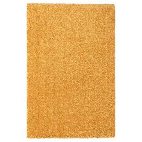 LANGSTED سجاد، وبر قصير أصفر 90 سم 60 سم 13 مم 0.54 م² 2500 g/m² 1030 g/m² 9 مم