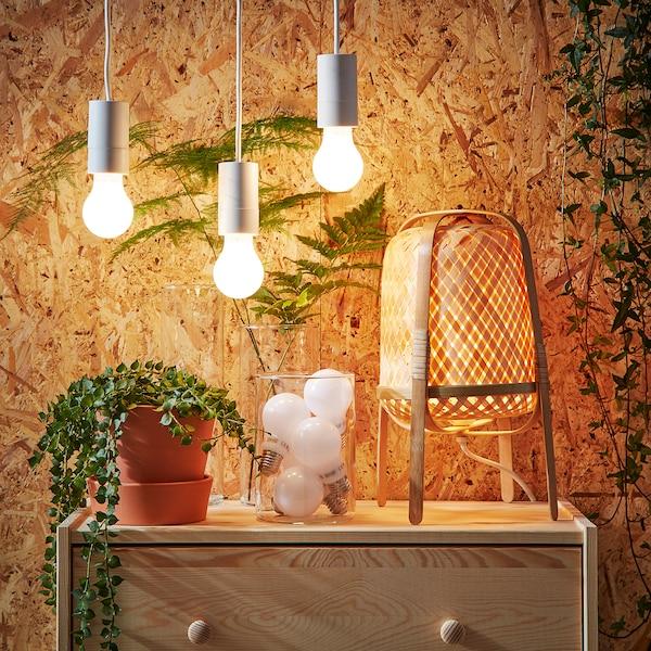 LEDARE لمبة LED E27 600 lumen خفت هادئ/كرويّة أبيض أوبال 600 lm