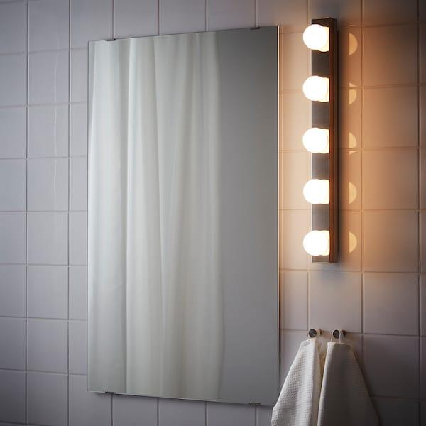 LEDSJÖ مصباح حائط LED ستينلس ستيل 500 lm 60 سم 6 سم 11 سم 9 واط