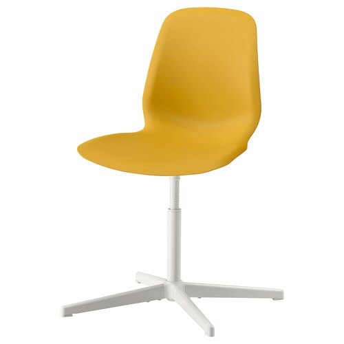 LEIFARNE كرسي دوّار أصفر غامق/Balsberget أبيض 110 كلغ 69 سم 69 سم 87 سم 45 سم 36 سم 41 سم 51 سم