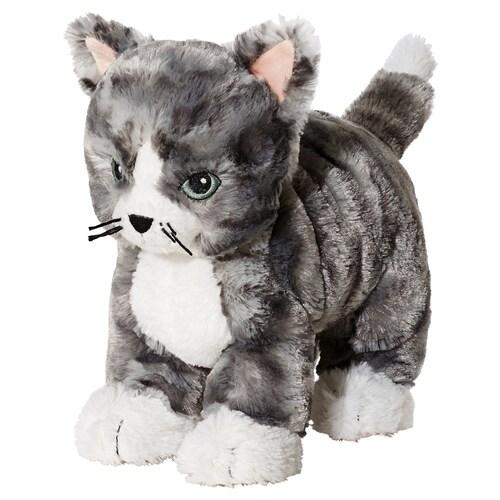 LILLEPLUTT دمية طرية قطة رمادي/أبيض