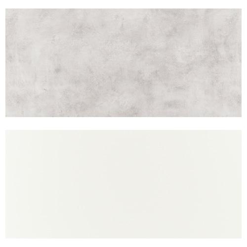 LYSEKIL لوح حائط ثنائي الجانب. أبيض/رمادي فاتح تأثيرات ماديّة. 119.6 سم 55 سم 0.2 سم