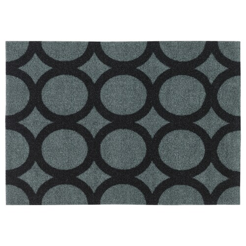 MEJLS سجادة باب نقش دائري رمادي/أسود 60 سم 40 سم 6 مم 0.24 م² 1110 g/m² 450 g/m² 4 مم