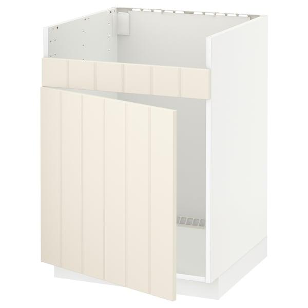 METOD خزانة قاعدة لحوض مفرد HAVSEN أبيض/Hittarp أبيض-عاجي 60.0 سم 61.8 سم 88.0 سم 60.0 سم 80.0 سم