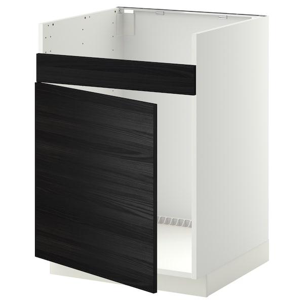 METOD خزانة قاعدة لحوض مفرد HAVSEN أبيض/Tingsryd أسود 60.0 سم 61.6 سم 88.0 سم 60.0 سم 80.0 سم