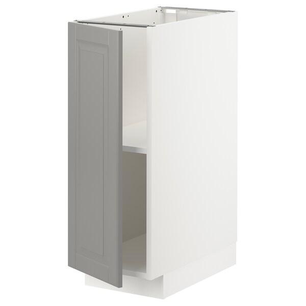 METOD خزانة قاعدة مع أرفف أبيض/Bodbyn رمادي 30.0 سم 61.6 سم 88.0 سم 60.0 سم 80.0 سم