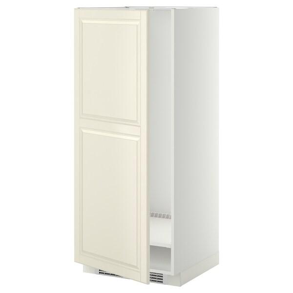 METOD خزانة مرتفعة للثلاجة/الفريزر أبيض/Bodbyn أبيض-عاجي 60.0 سم 61.9 سم 148.0 سم 60.0 سم 140.0 سم