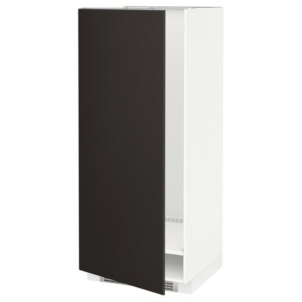 METOD خزانة مرتفعة للثلاجة/الفريزر أبيض/Kungsbacka فحمي 60.0 سم 61.6 سم 148.0 سم 60.0 سم 140.0 سم