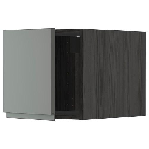 METOD خزانة عالية أسود/Voxtorp رمادي غامق 40.0 سم 62.1 سم 40.0 سم