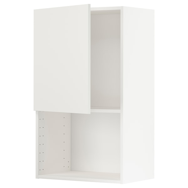METOD خزانة حائط لفرن المايكروويف أبيض/Häggeby أبيض 60.0 سم 38.6 سم 100.0 سم
