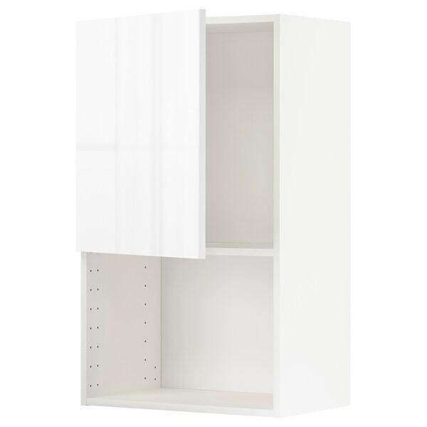 METOD خزانة حائط لفرن المايكروويف أبيض/Ringhult أبيض 60.0 سم 38.8 سم 100.0 سم