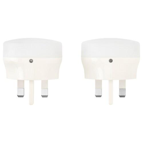 MÖRKRÄDD إضاءة ليلية LED مع حساس أبيض 5 lm 55 مم 0.45 واط 2 قطعة