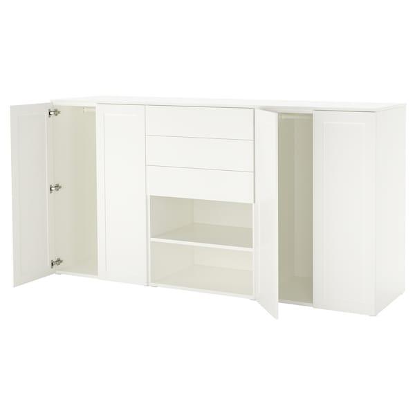 PLATSA دولاب ملابس أبيض/Fonnes Sannidal 240 سم 57 سم 123 سم