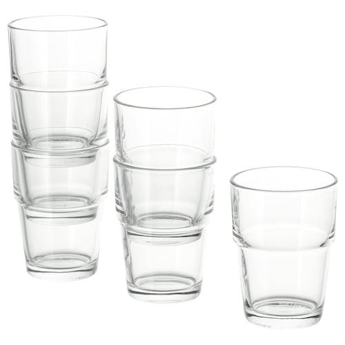 REKO كأس زجاج شفاف 9 سم 17 سل 6 قطعة