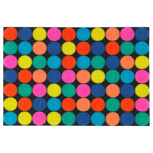 RORSLEV سجادة باب عدة ألوان 60 سم 40 سم 6 مم 0.24 م² 1110 g/m² 450 g/m² 4 مم