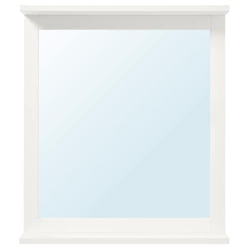 SILVERÅN مرآة مع رف أبيض 56 سم 63.8 سم