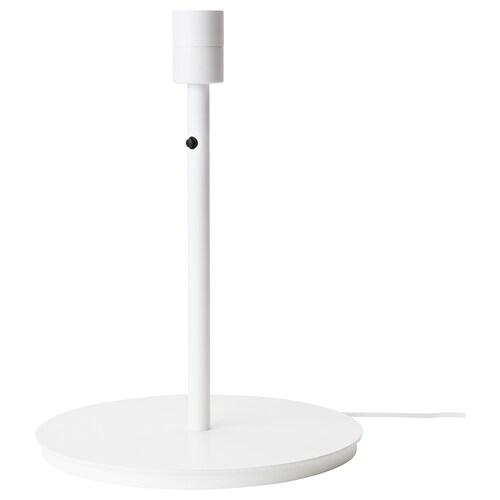SKAFTET قاعدة مصباح طاولة أبيض 13 واط 38 سم 29 سم 200 سم