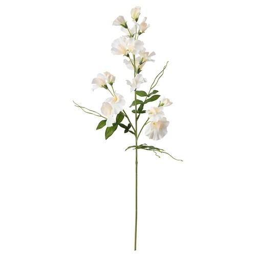 SMYCKA زهرة صناعية بازيلاء حلوة./أبيض 60 سم