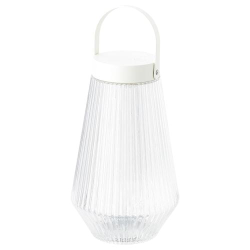 SOLVINDEN إضاءة LED خارجي/يعمل بالبطارية زجاج شفاف 24 سم 15 سم