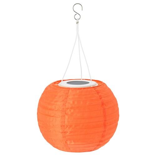 SOLVINDEN مصباح معلق طاقة شمسية LED خارجي/كروي برتقالي 22 سم 19 سم 19 سم