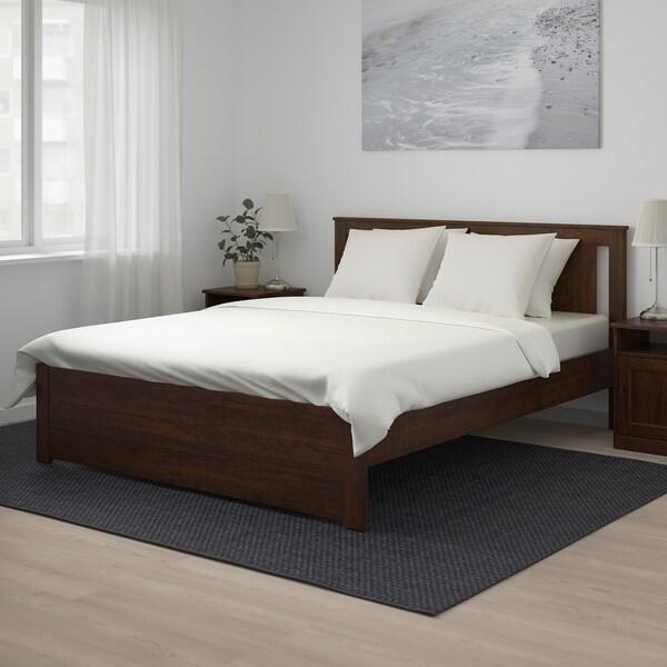 SONGESAND هيكل سرير بني/Leirsund 207 سم 173 سم 41 سم 95 سم 20 سم 200 سم 160 سم