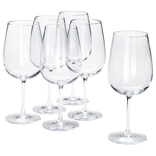 STORSINT كأس زجاج شفاف 21.5 سم 68 سل 6 قطعة