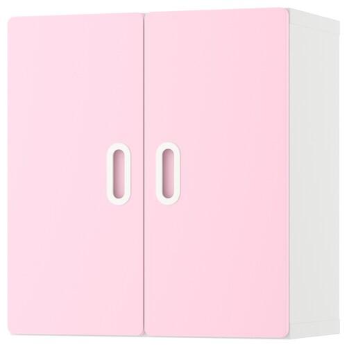 STUVA / FRITIDS خزانة حائطية أبيض/زهري فاتح 60 سم 30 سم 64 سم