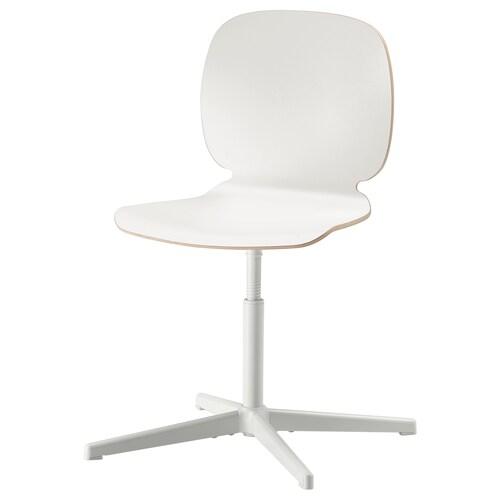 SVENBERTIL كرسي دوّار أبيض/Balsberget أبيض 110 كلغ 69 سم 69 سم 85 سم 45 سم 42 سم 40 سم 50 سم