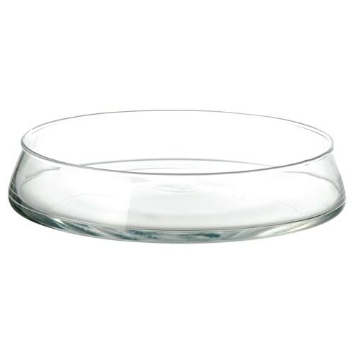 TIDVATTEN سلطانية زجاج شفاف 26 سم