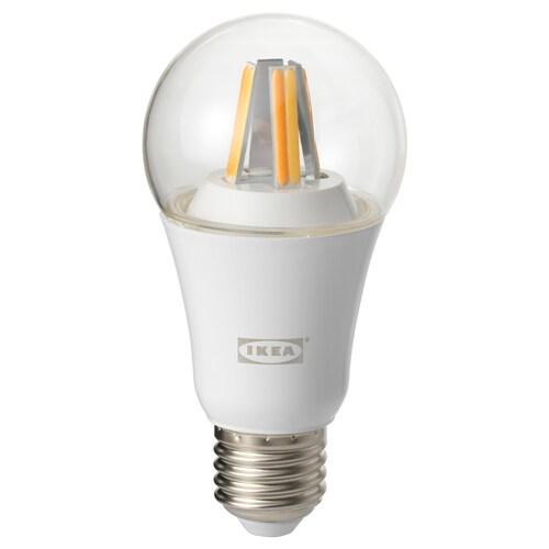 TRÅDFRI لمبة LED E27 806 لومن قابل للخفت لاسلكي طيف أبيض/كروي شفاف 806 lm 2700 كلفن 6 سم 6 سم 12 سم 9.0 واط