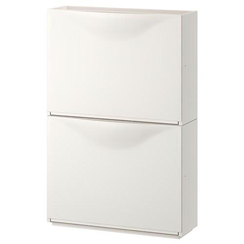 TRONES خزانة أحذية/خزانة أبيض 52 سم 18 سم 39 سم 2 قطعة