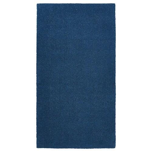 TYVELSE سجاد، وبر قصير أزرق غامق 150 سم 80 سم 14 مم 1.20 م² 3000 g/m² 1880 g/m² 13 مم