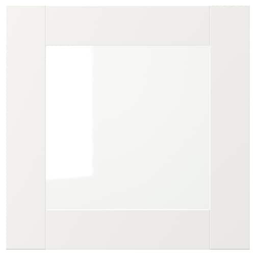 VÄRD باب زجاج أبيض 40 سم 40 سم